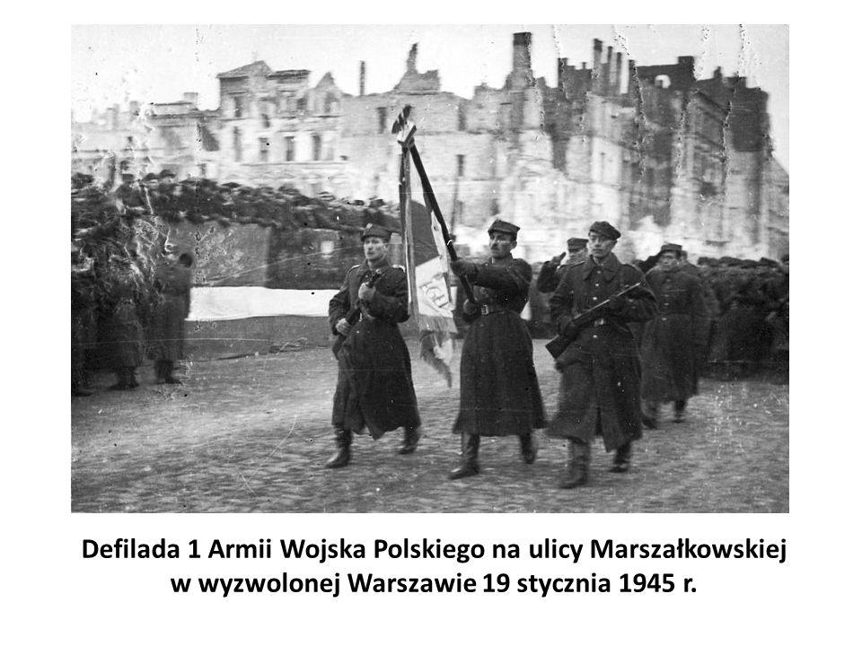 Defilada 1 Armii Wojska Polskiego na ulicy Marszałkowskiej