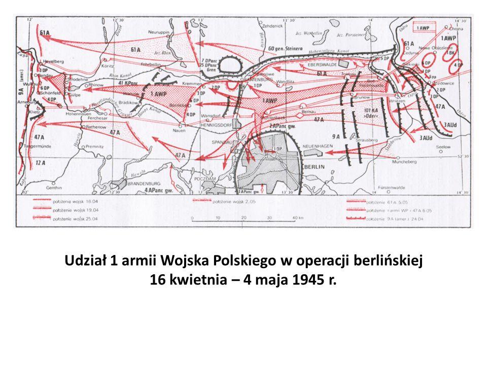 Udział 1 armii Wojska Polskiego w operacji berlińskiej