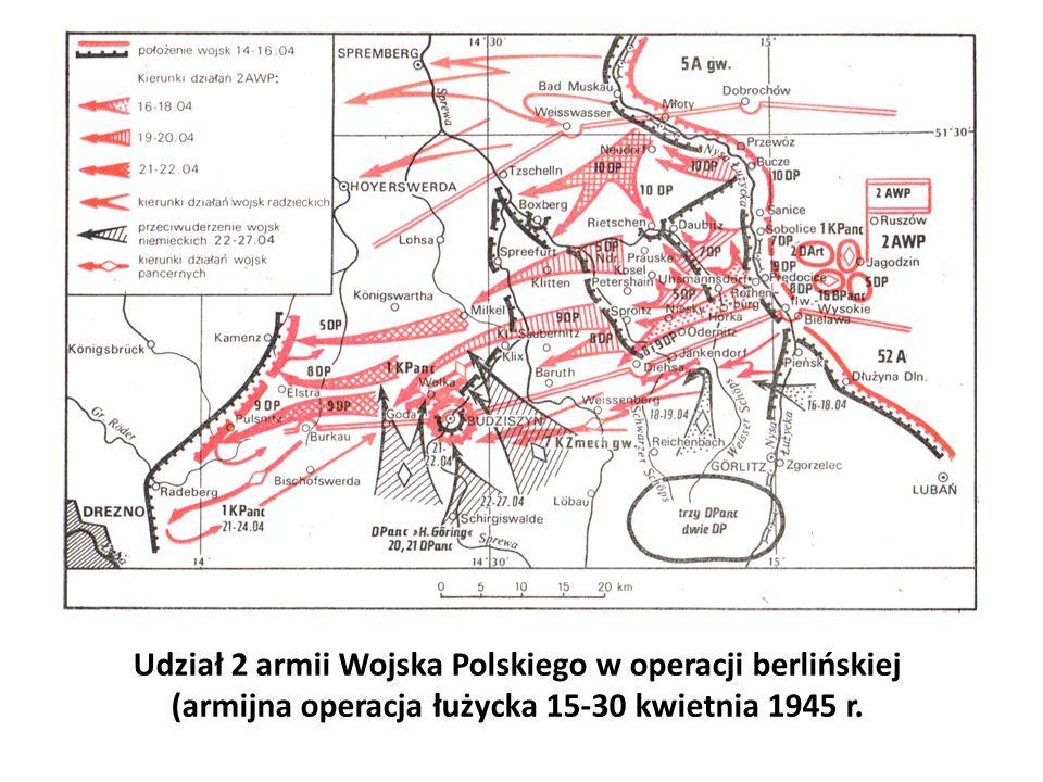 Udział 2 armii Wojska Polskiego w operacji berlińskiej (armijna operacja łużycka 15-30 kwietnia 1945 r.