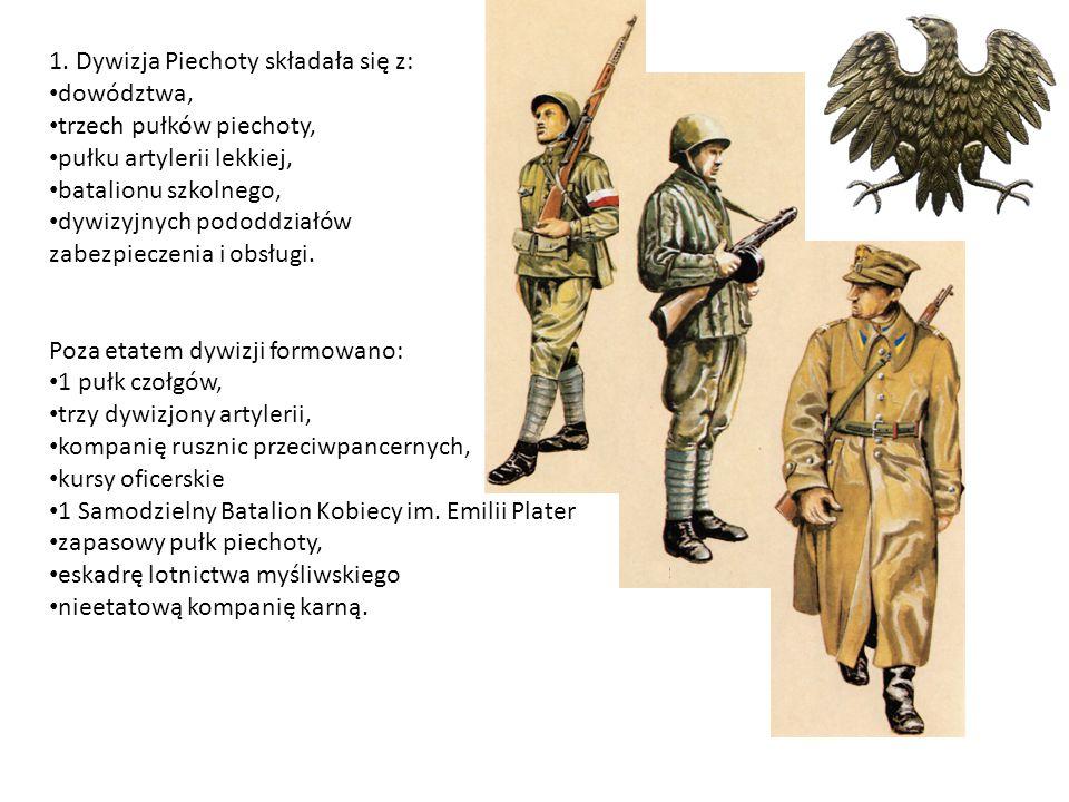 1. Dywizja Piechoty składała się z: