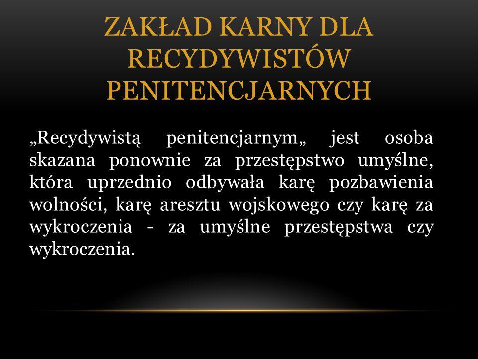 Zakład karny dla recydywistów penitencjarnych