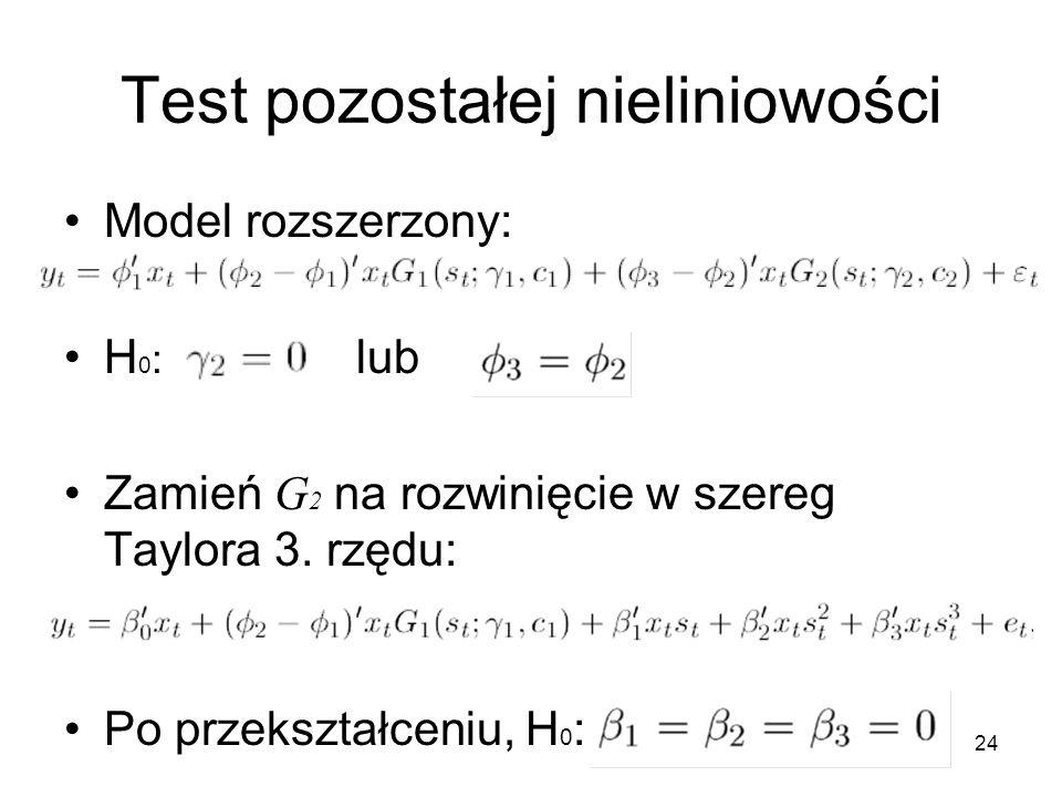 Test pozostałej nieliniowości