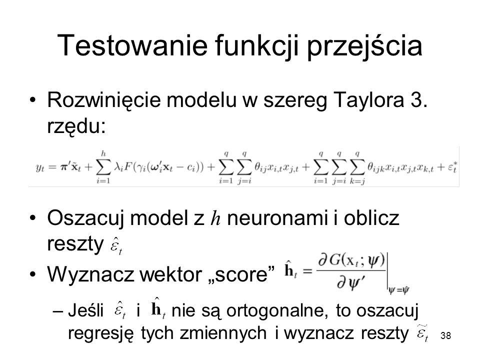 Testowanie funkcji przejścia