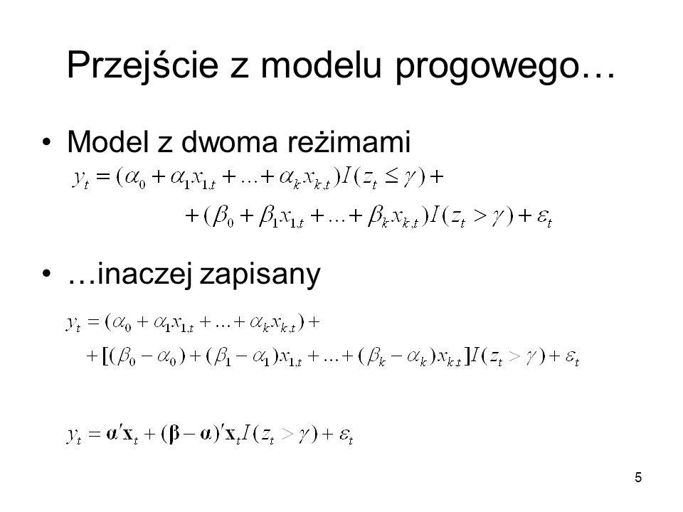 Przejście z modelu progowego…