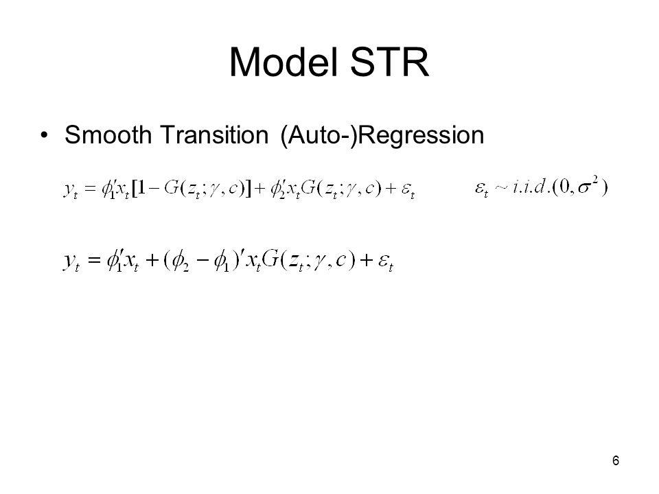 Model STR Smooth Transition (Auto-)Regression