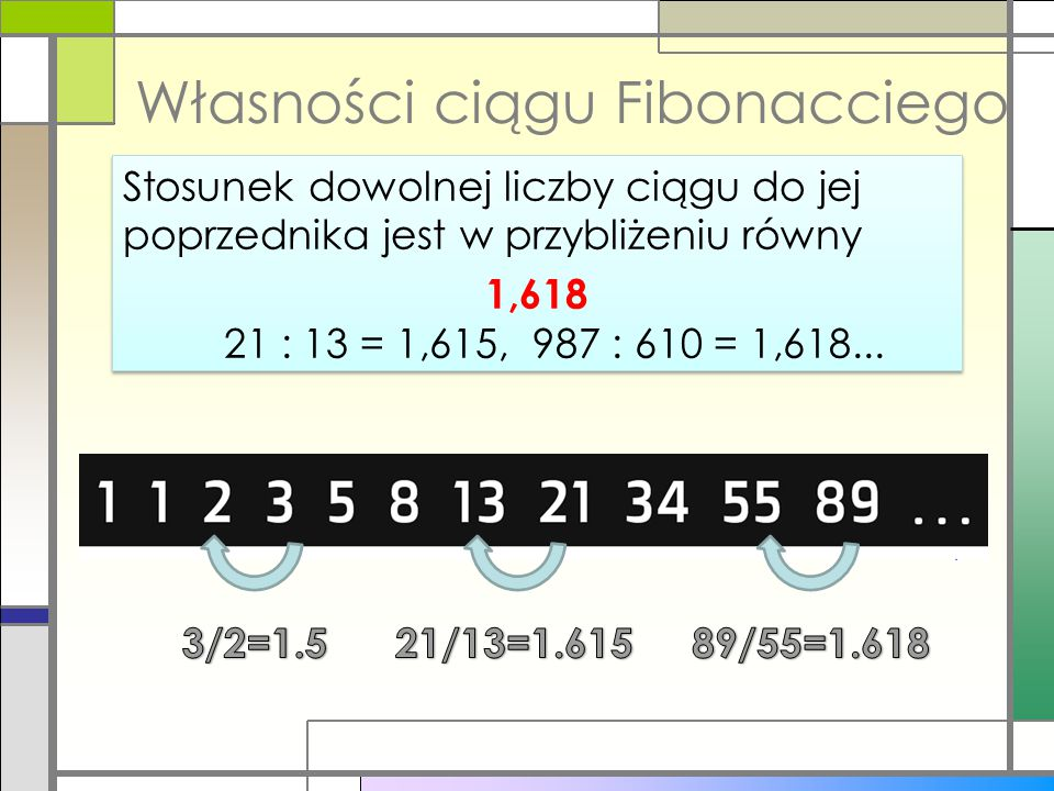 Własności ciągu Fibonacciego