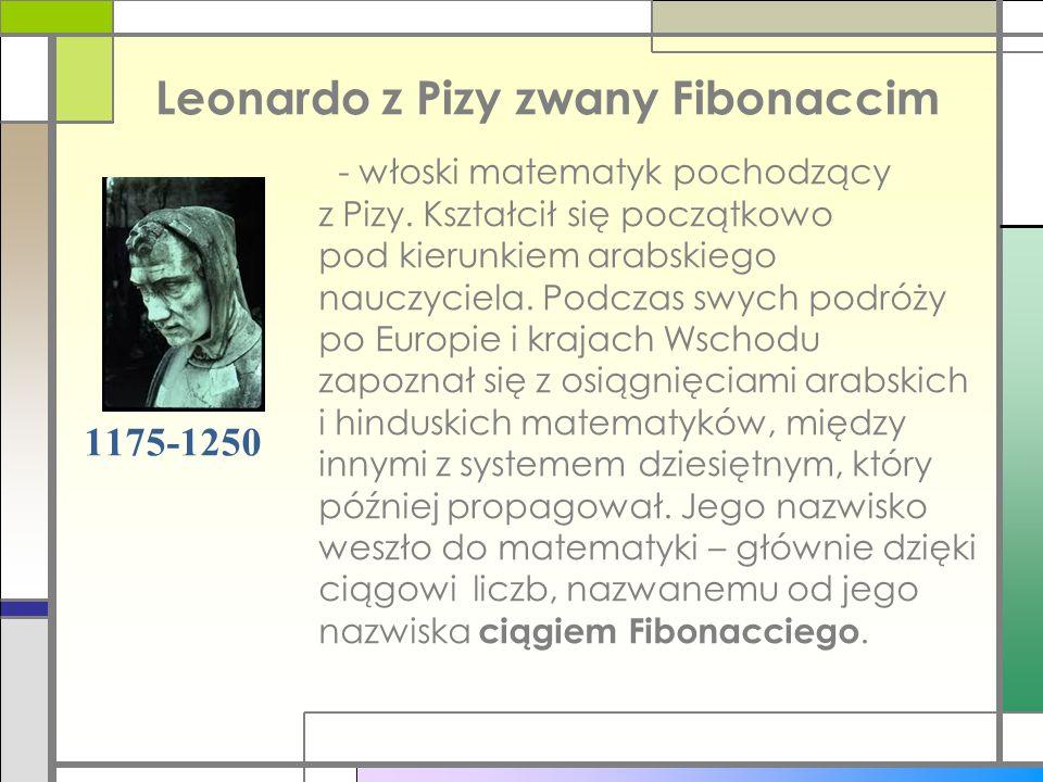 Leonardo z Pizy zwany Fibonaccim