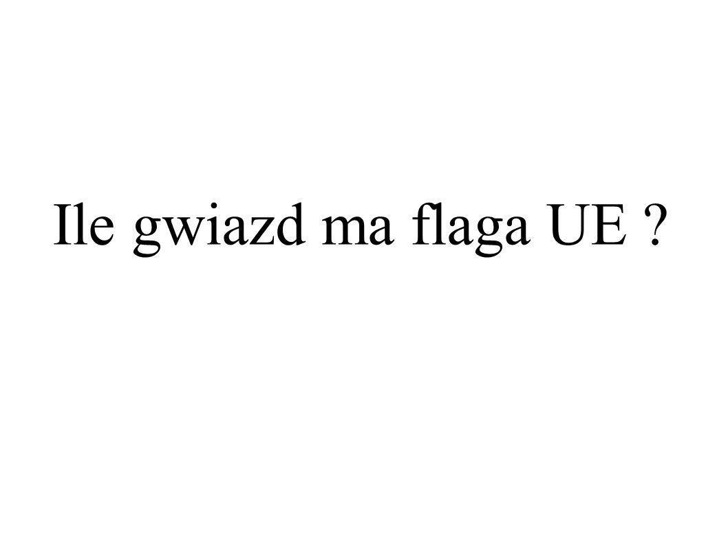 Ile gwiazd ma flaga UE