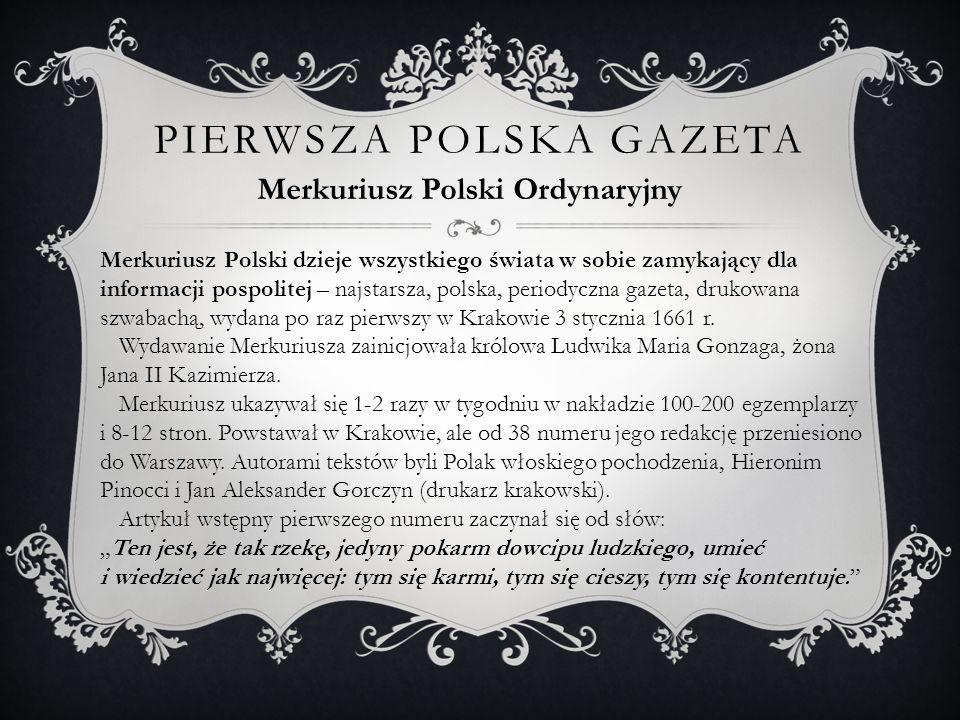 Pierwsza polska gazeta