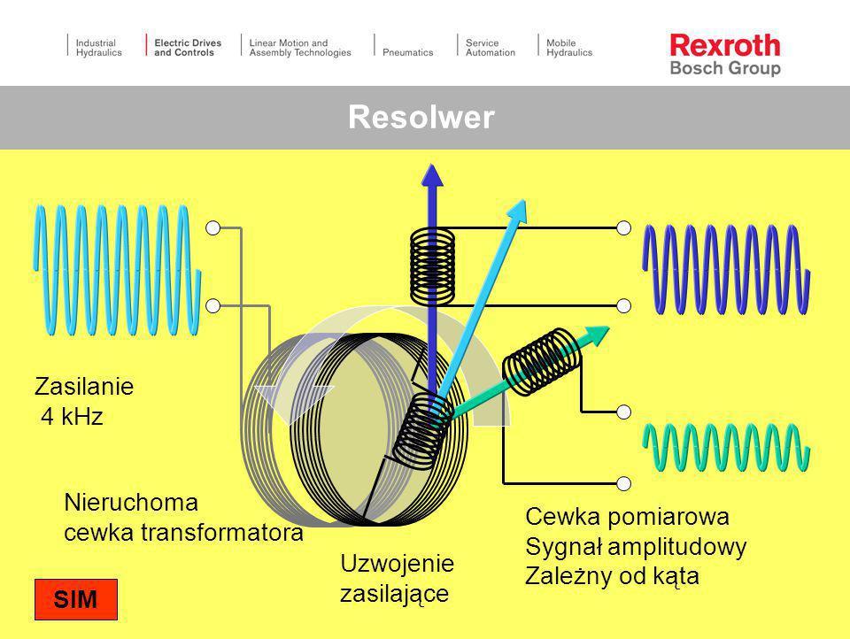 Resolwer Zasilanie 4 kHz Nieruchoma cewka transformatora