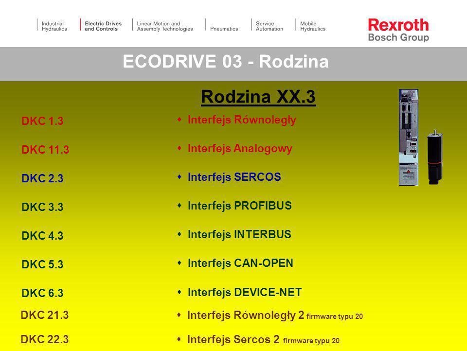 ECODRIVE 03 - Rodzina Rodzina XX.3 DKC 1.3  Interfejs Równoległy