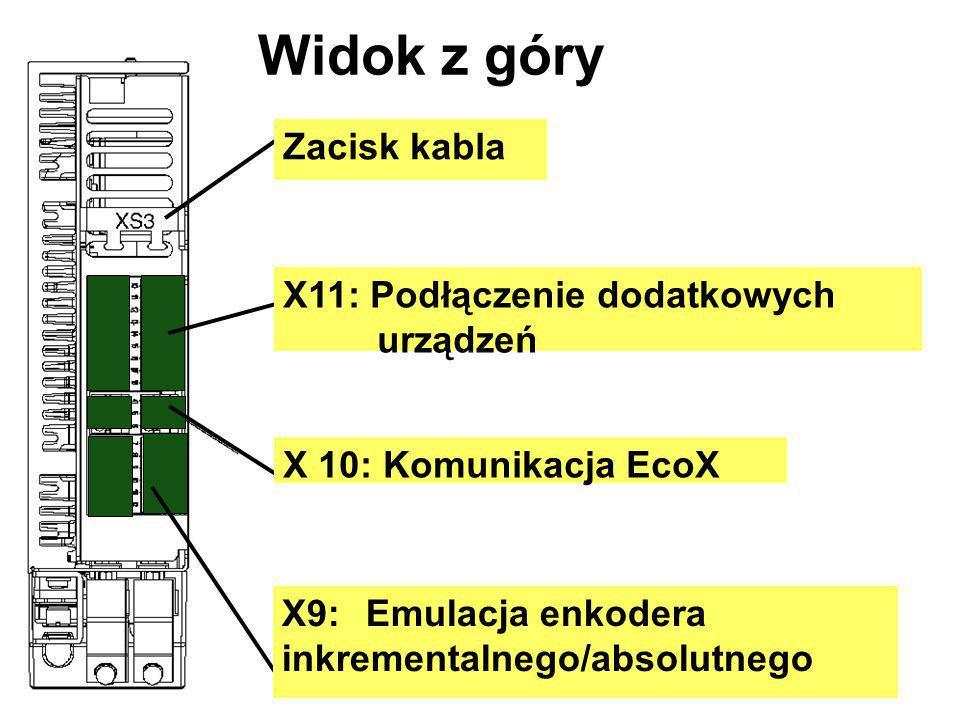 Widok z góry Zacisk kabla X11: Podłączenie dodatkowych urządzeń