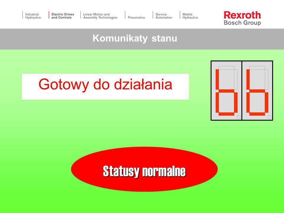 Komunikaty stanu Gotowy do działania Statusy normalne