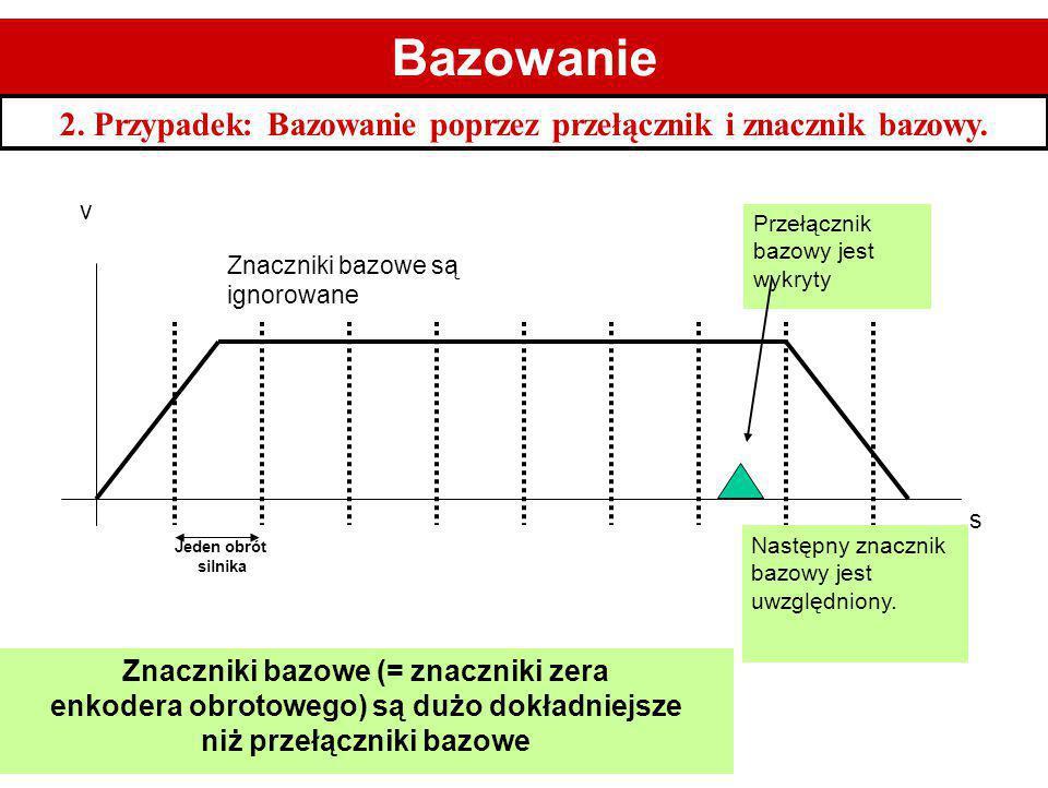 1 1. Bazowanie. 2. Przypadek: Bazowanie poprzez przełącznik i znacznik bazowy. v. Przełącznik bazowy jest wykryty.