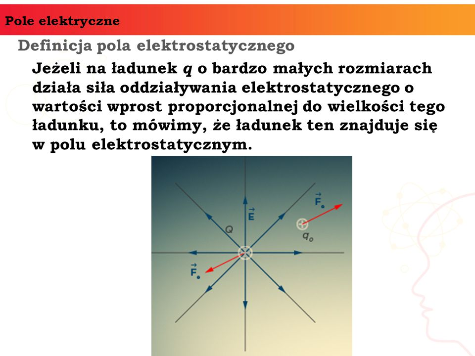 Definicja pola elektrostatycznego
