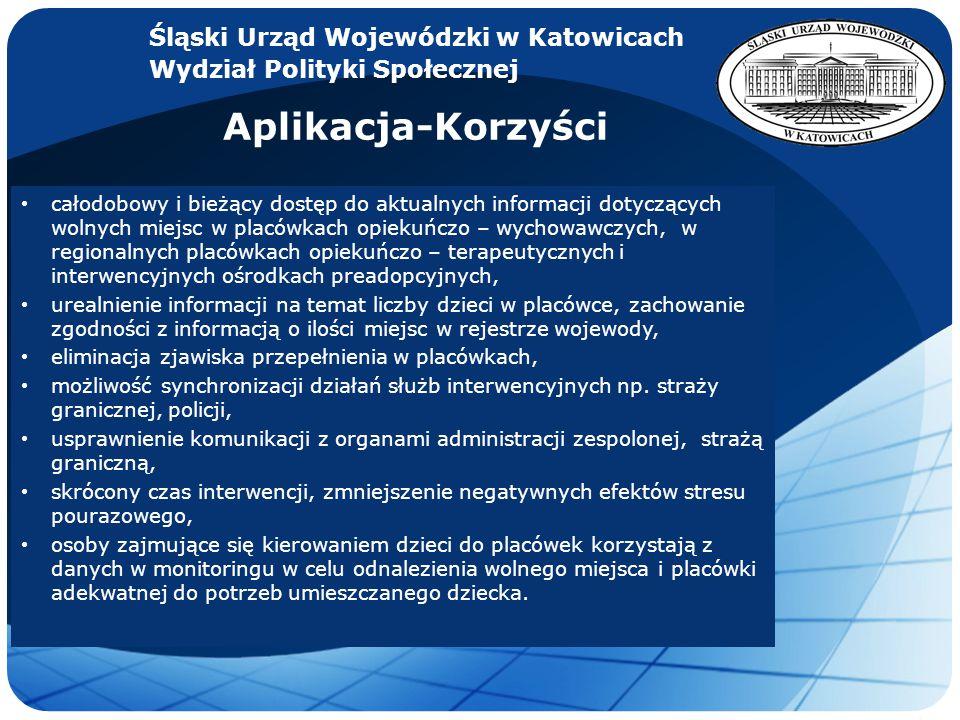 Aplikacja-Korzyści Śląski Urząd Wojewódzki w Katowicach