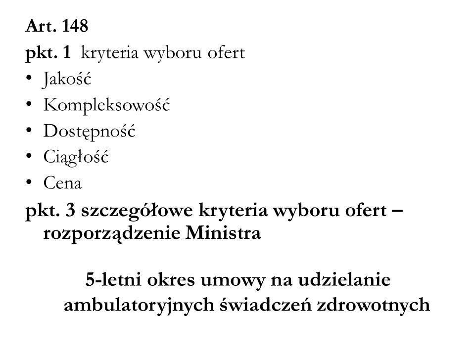 pkt. 3 szczegółowe kryteria wyboru ofert – rozporządzenie Ministra