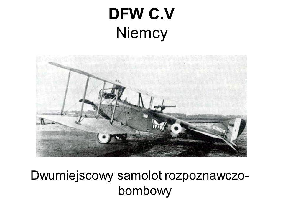 Dwumiejscowy samolot rozpoznawczo-bombowy