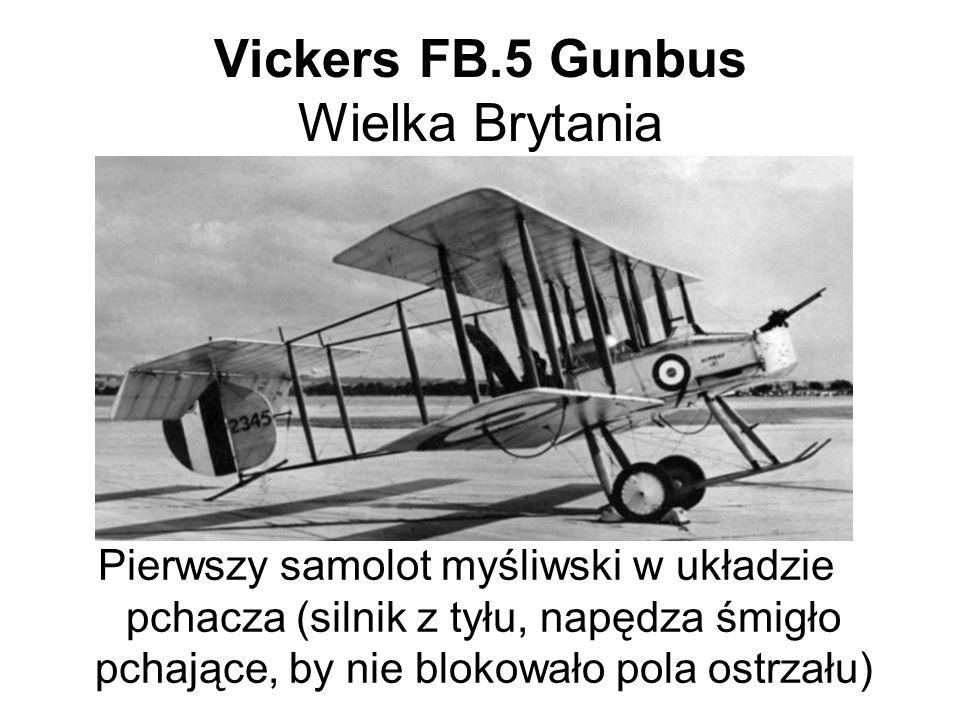 Vickers FB.5 Gunbus Wielka Brytania