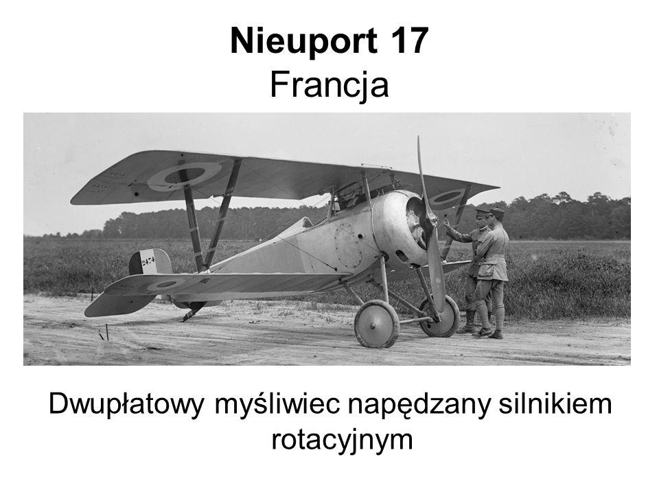 Dwupłatowy myśliwiec napędzany silnikiem rotacyjnym