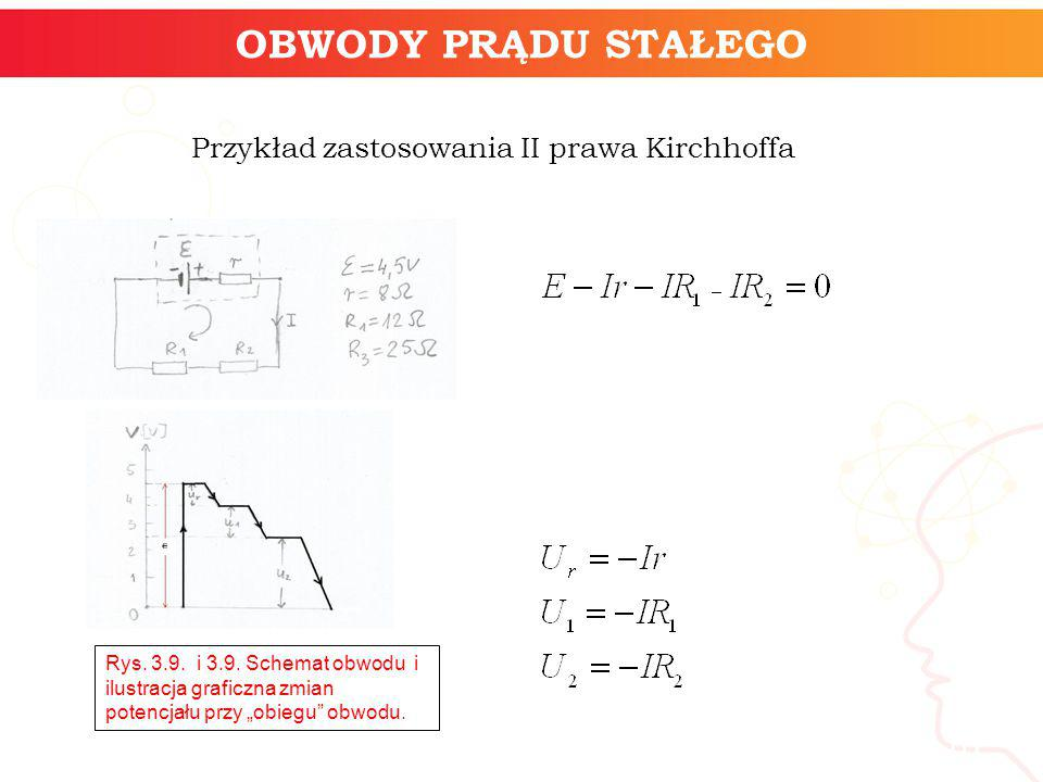 Przykład zastosowania II prawa Kirchhoffa