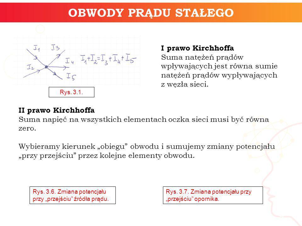 OBWODY PRĄDU STAŁEGO informatyka + I prawo Kirchhoffa