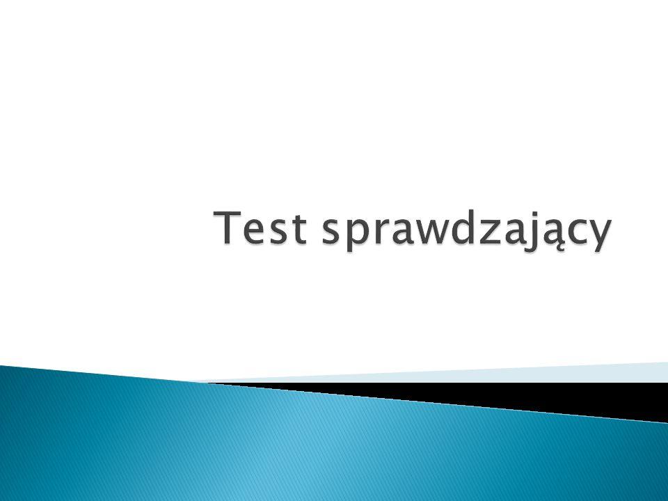 Test sprawdzający
