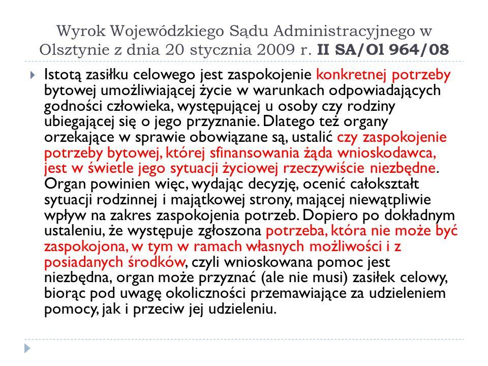 Wyrok Wojewódzkiego Sądu Administracyjnego w Olsztynie z dnia 20 stycznia 2009 r. II SA/Ol 964/08