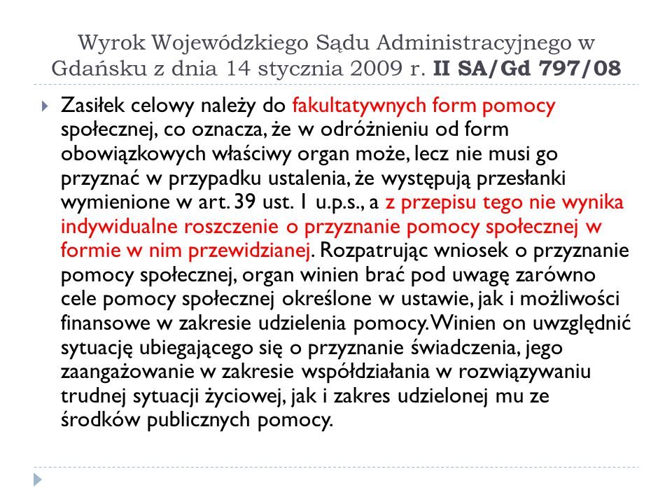 Wyrok Wojewódzkiego Sądu Administracyjnego w Gdańsku z dnia 14 stycznia 2009 r. II SA/Gd 797/08