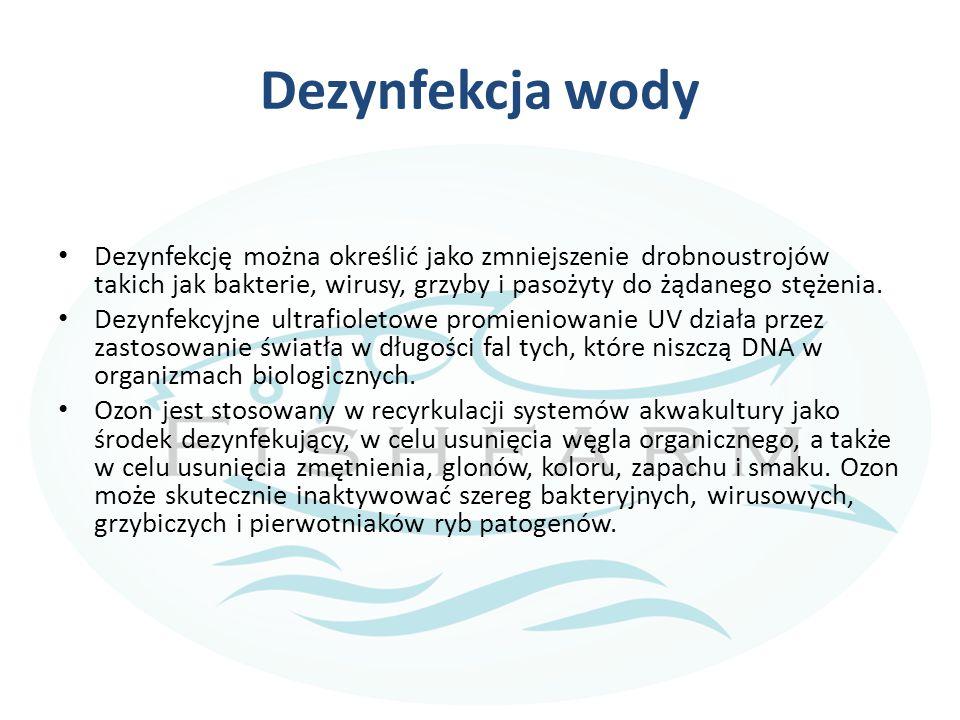 Dezynfekcja wody Dezynfekcję można określić jako zmniejszenie drobnoustrojów takich jak bakterie, wirusy, grzyby i pasożyty do żądanego stężenia.