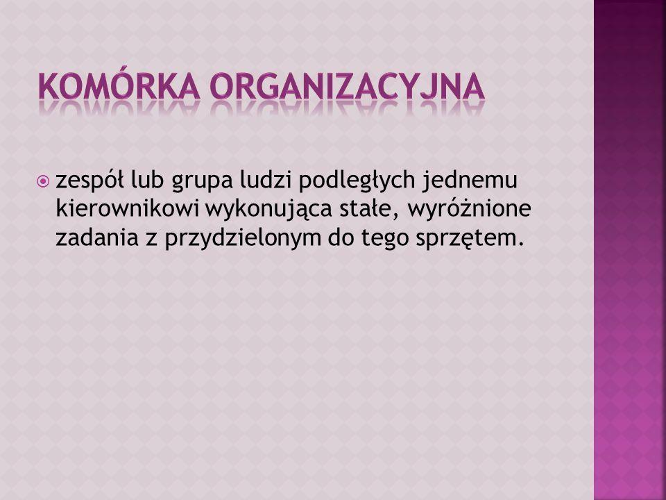 Komórka organizacyjna