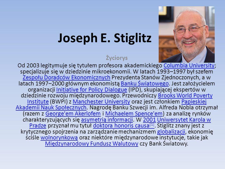 Joseph E. Stiglitz Życiorys