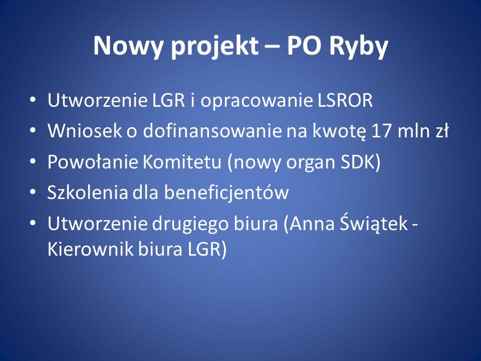 Nowy projekt – PO Ryby Utworzenie LGR i opracowanie LSROR