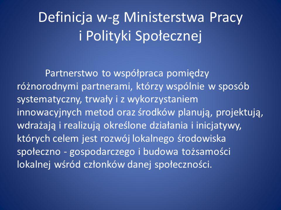 Definicja w-g Ministerstwa Pracy i Polityki Społecznej