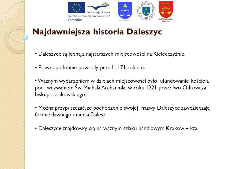 Najdawniejsza historia Daleszyc