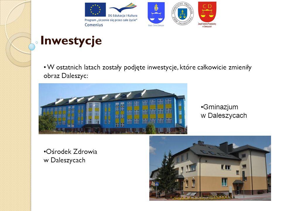 Inwestycje W ostatnich latach zostały podjęte inwestycje, które całkowicie zmieniły obraz Daleszyc: