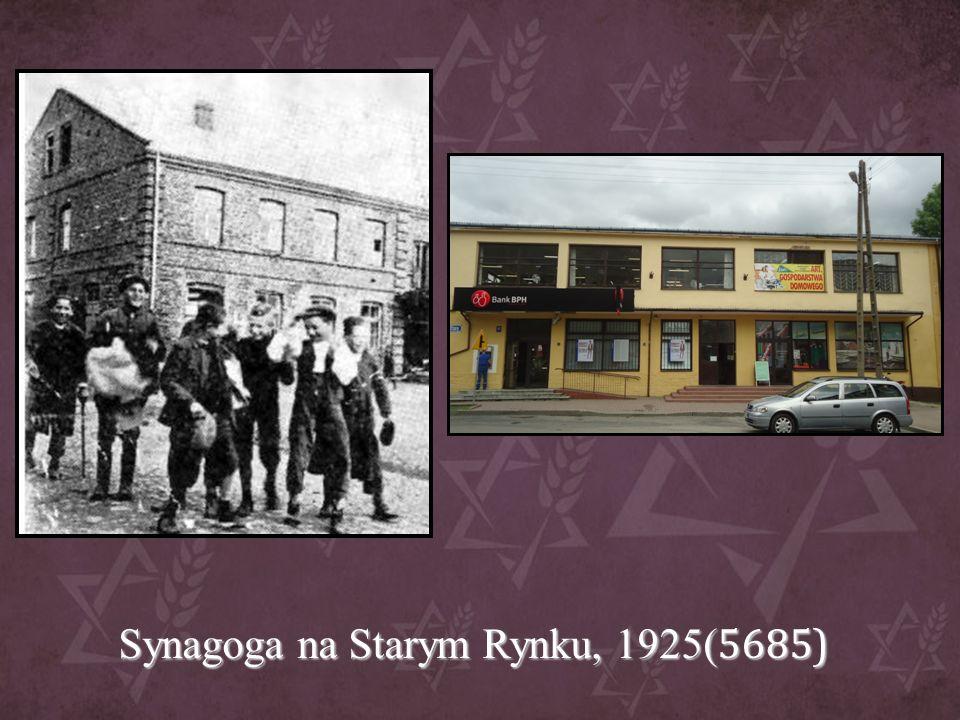 Synagoga na Starym Rynku, 1925(5685)