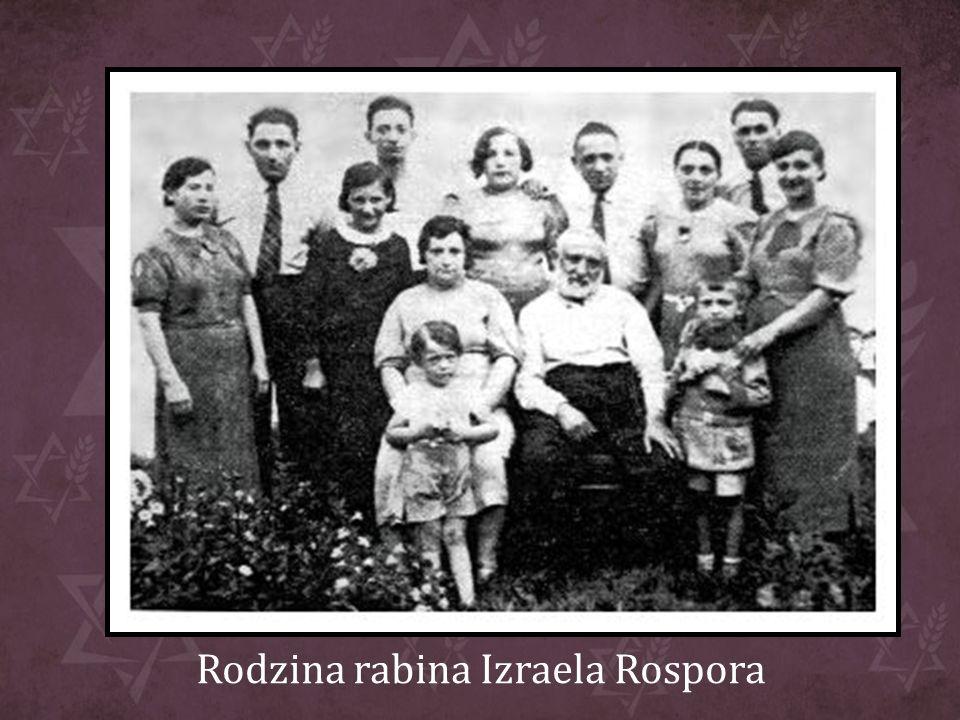 Rodzina rabina Izraela Rospora
