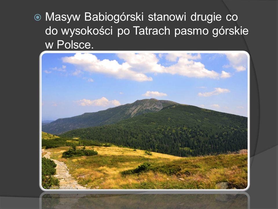 Masyw Babiogórski stanowi drugie co do wysokości po Tatrach pasmo górskie w Polsce.