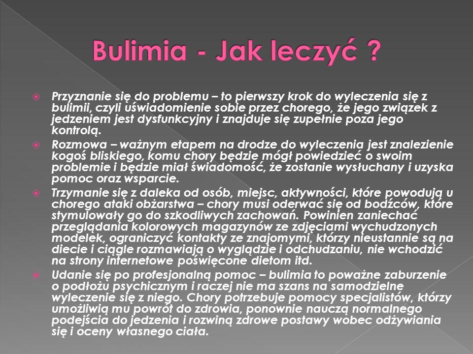 Bulimia - Jak leczyć