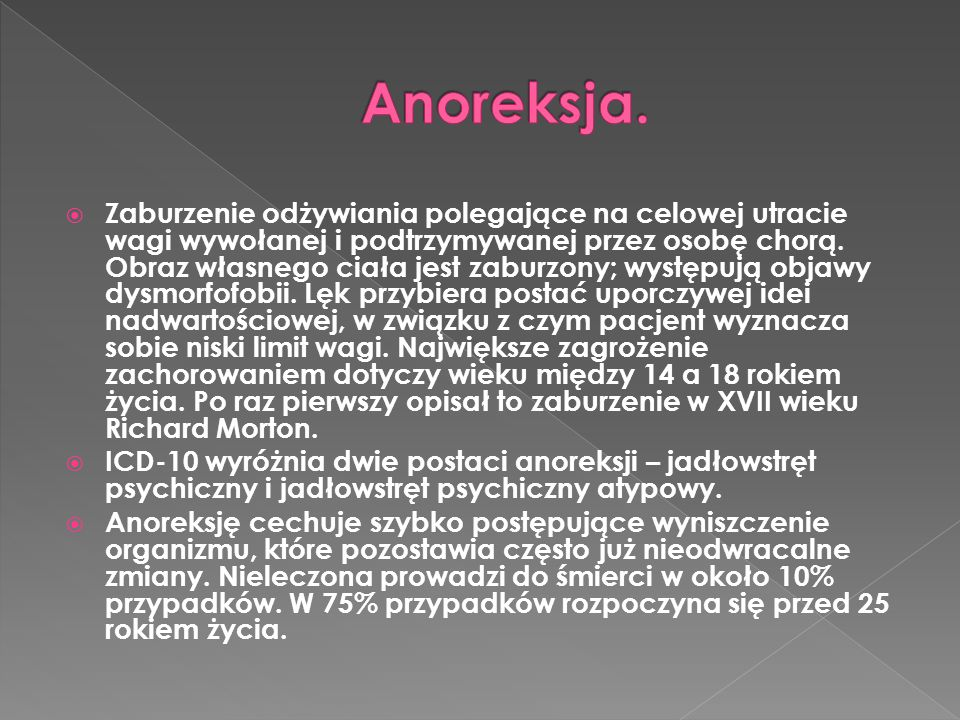Anoreksja.