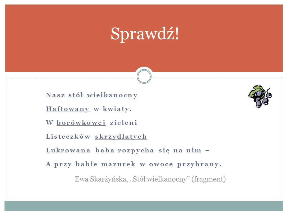 """Sprawdź! Ewa Skarżyńska, """"Stół wielkanocny (fragment)"""