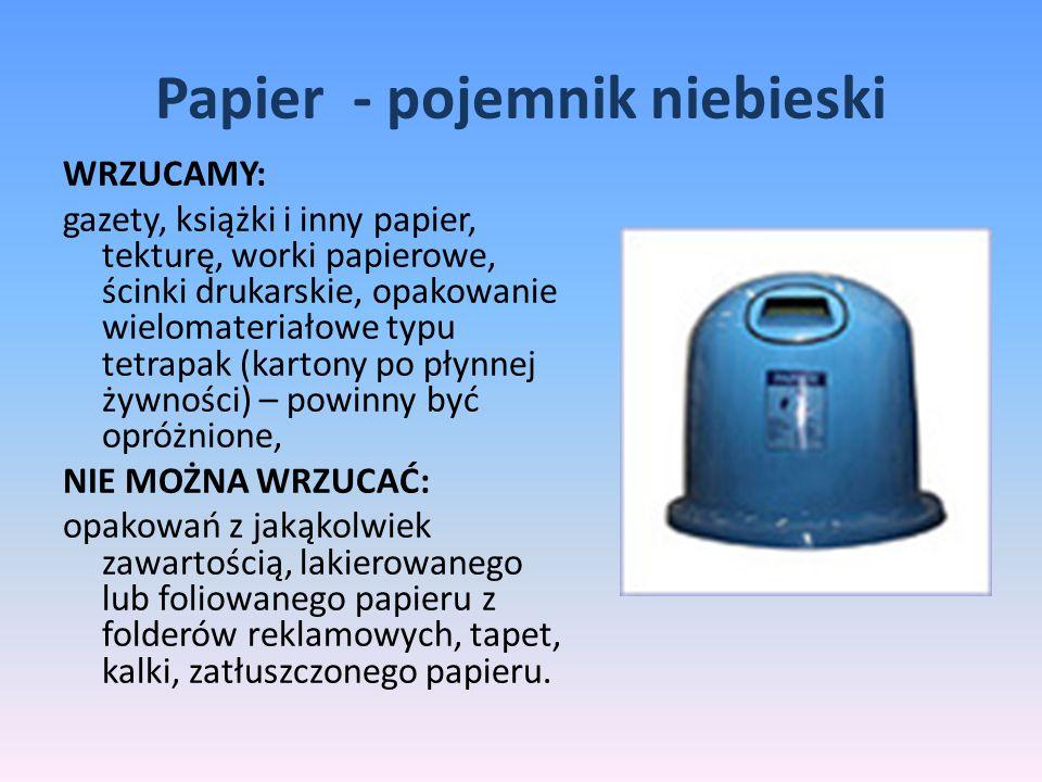 Papier - pojemnik niebieski