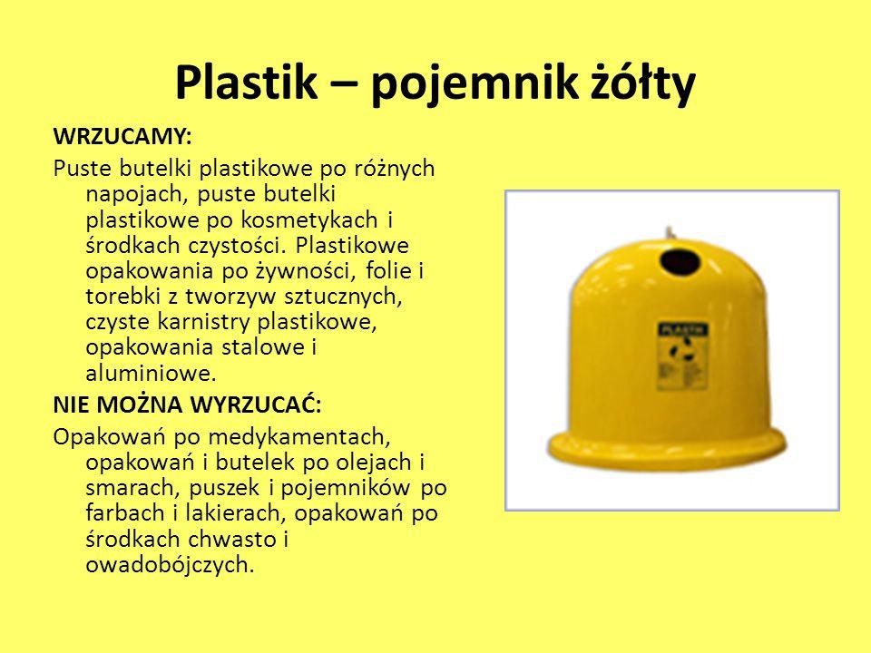 Plastik – pojemnik żółty