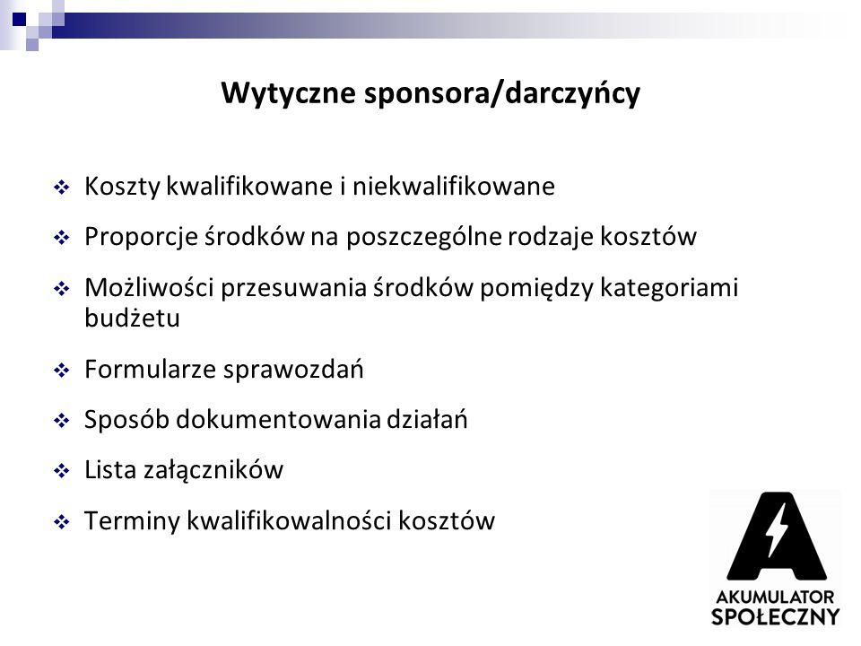 Wytyczne sponsora/darczyńcy