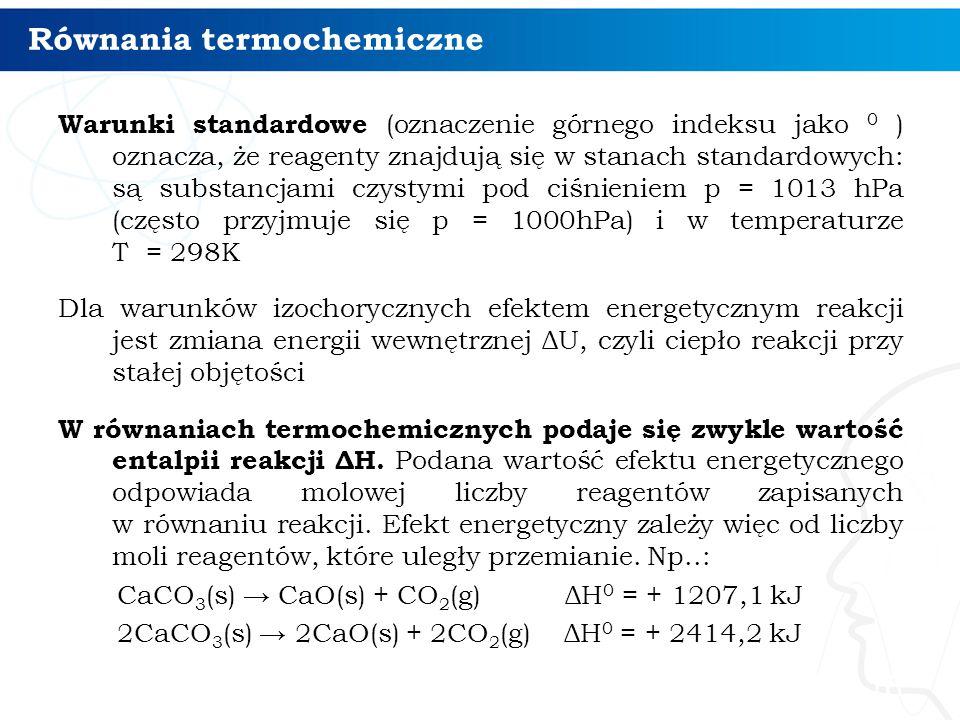 Równania termochemiczne