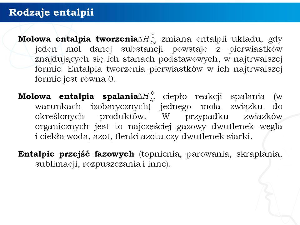 Rodzaje entalpii