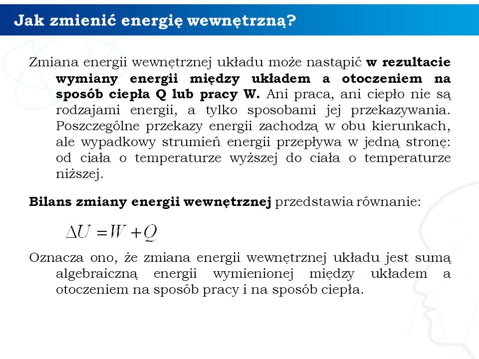 Jak zmienić energię wewnętrzną