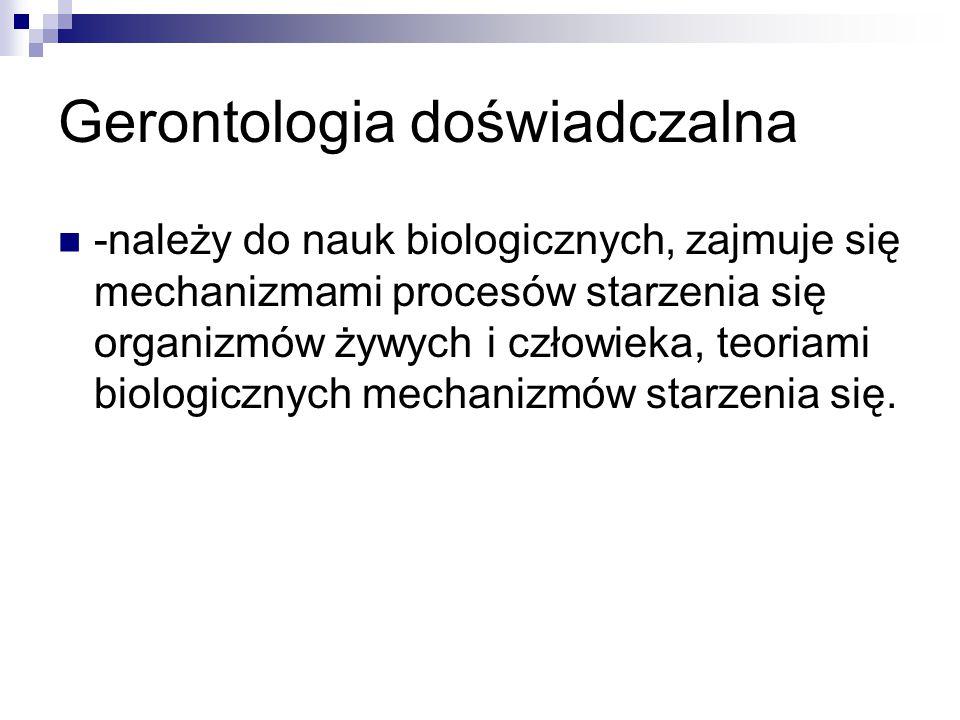 Gerontologia doświadczalna
