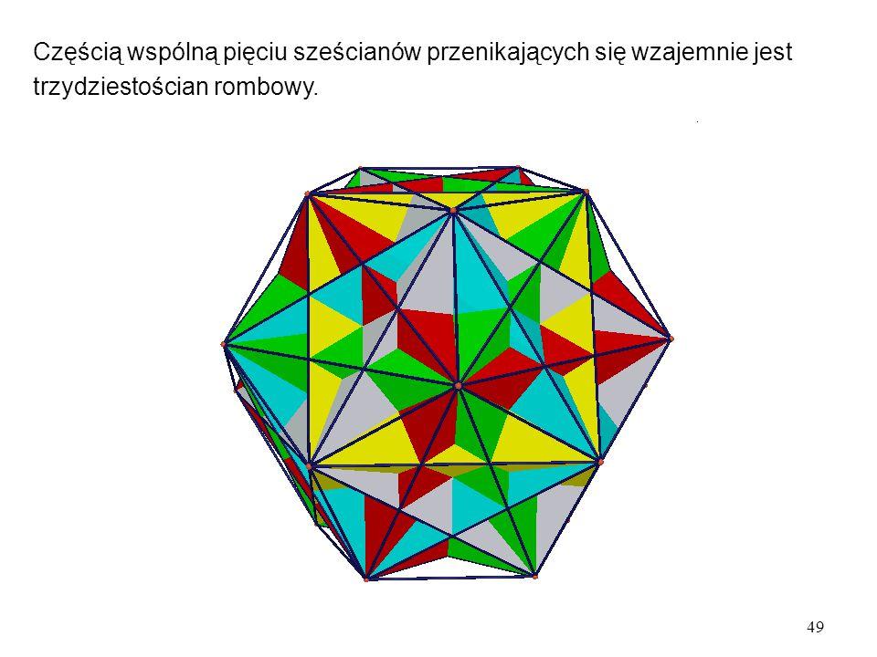 Częścią wspólną pięciu sześcianów przenikających się wzajemnie jest